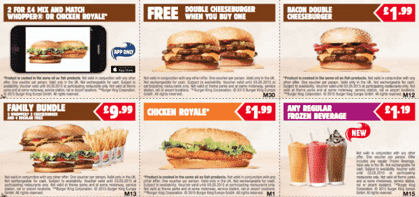 BurgerKing vouchers