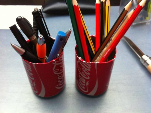 coke can pencil holder