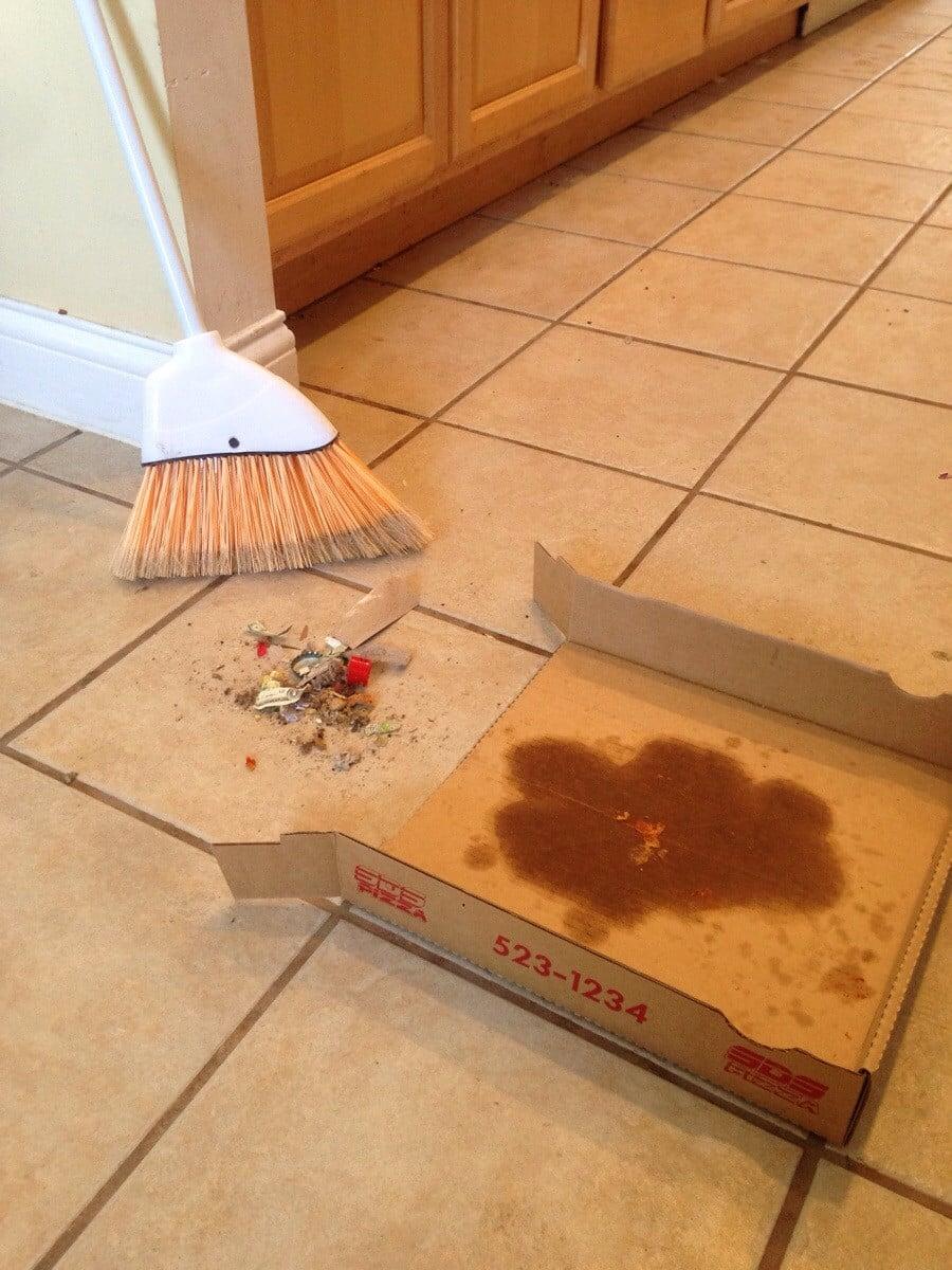 dustpan pizza box
