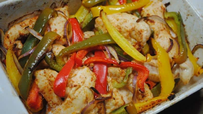One Dish Delicious Chicken Fajita