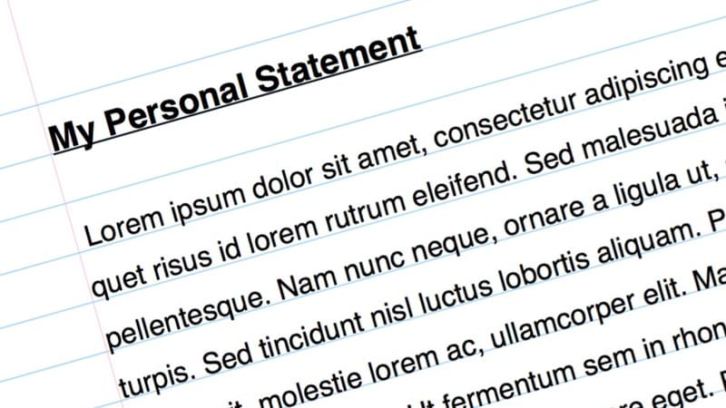 how to write a personal statement 2