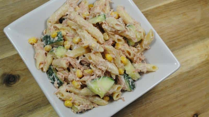 Pasta and Tuna Mayonnaise Salad