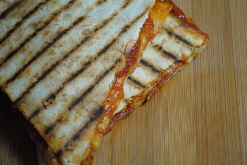 Simple Pepperoni Pizza Quesadillas recipe