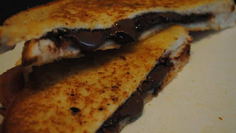 bacon chocolae toastie recipe